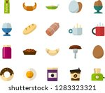 color flat icon set   hot tea... | Shutterstock .eps vector #1283323321