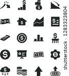 solid black vector icon set  ... | Shutterstock .eps vector #1283323804