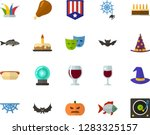 color flat icon set  ... | Shutterstock .eps vector #1283325157