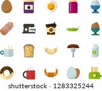 color flat icon set   hot tea... | Shutterstock .eps vector #1283325244