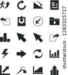 solid black vector icon set  ... | Shutterstock .eps vector #1283325727