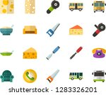 color flat icon set   cheese... | Shutterstock .eps vector #1283326201