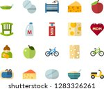 color flat icon set   mothers... | Shutterstock .eps vector #1283326261