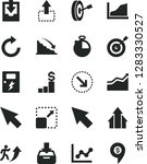 solid black vector icon set  ... | Shutterstock .eps vector #1283330527