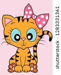 cute kitty vector | Shutterstock .eps vector #1283331361