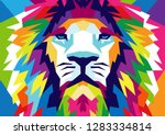 abstract lion background vector ... | Shutterstock .eps vector #1283334814