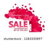 vector background. valentine's... | Shutterstock .eps vector #1283335897