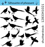 Collection Of Silhouettes Of...