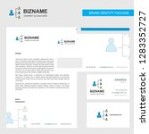 networking business letterhead  ... | Shutterstock .eps vector #1283352727