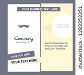 mustache  company brochure... | Shutterstock .eps vector #1283353351