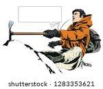 stock illustration. climber in... | Shutterstock .eps vector #1283353621