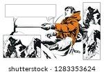 stock illustration. climber in... | Shutterstock .eps vector #1283353624