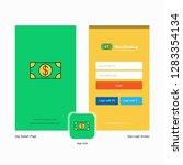 company dollar splash screen... | Shutterstock .eps vector #1283354134