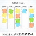 realistic 3d detailed kanban... | Shutterstock .eps vector #1283355061