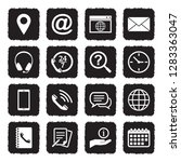contact us icons. grunge black... | Shutterstock .eps vector #1283363047