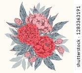 hand drawn vector vintage... | Shutterstock .eps vector #1283363191