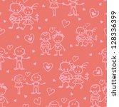 couples in love seamless...   Shutterstock .eps vector #128336399