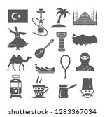 turkey culture icons | Shutterstock .eps vector #1283367034