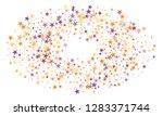 colorful stars confetti. vector ...   Shutterstock .eps vector #1283371744