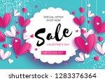 happy valentine's day. sale... | Shutterstock . vector #1283376364