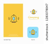 bell  company logo app icon and ...   Shutterstock .eps vector #1283378047