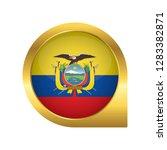 flag of ecuador  location map... | Shutterstock .eps vector #1283382871