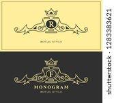 monogram design elements ... | Shutterstock .eps vector #1283383621