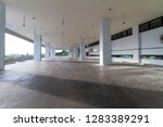 modern white parking garage... | Shutterstock . vector #1283389291