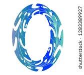 original zero symbol design....   Shutterstock .eps vector #1283389927