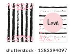 bridal shower card with dots... | Shutterstock .eps vector #1283394097