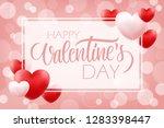 valentines day romantic...   Shutterstock .eps vector #1283398447