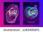 electronic party. curvy show... | Shutterstock .eps vector #1283400691
