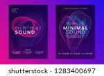 music fest. trendy discotheque... | Shutterstock .eps vector #1283400697