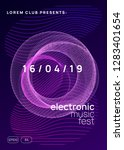 dance flyer. dynamic gradient... | Shutterstock .eps vector #1283401654