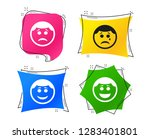circle smile face icons. happy  ...   Shutterstock .eps vector #1283401801