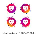 heart smile face icons. happy ...   Shutterstock .eps vector #1283401804
