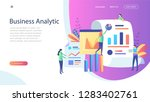 business analytic concept  ... | Shutterstock .eps vector #1283402761