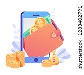 Concept Online Money   Mobile...
