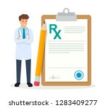 medicine illustration isolated... | Shutterstock .eps vector #1283409277