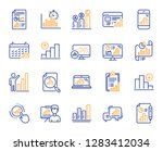 graph line icons. set of chart... | Shutterstock .eps vector #1283412034