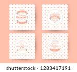 set of happy valentines day... | Shutterstock .eps vector #1283417191