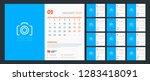 desk calendar for 2019 year.... | Shutterstock .eps vector #1283418091