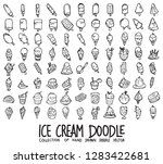 set of ice cream icons drawing... | Shutterstock .eps vector #1283422681