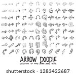 set of arrow icons drawing... | Shutterstock .eps vector #1283422687