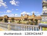 "the plaza de espa a  ""spain... | Shutterstock . vector #1283426467"