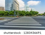 empty road with zebra crossing... | Shutterstock . vector #1283436691