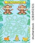 children maze with a cute... | Shutterstock .eps vector #1283452321