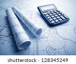 the part of architectural... | Shutterstock . vector #128345249