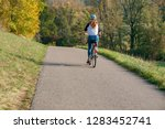 idyllic rural cycle path with...   Shutterstock . vector #1283452741