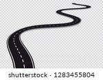 long winding road.... | Shutterstock .eps vector #1283455804